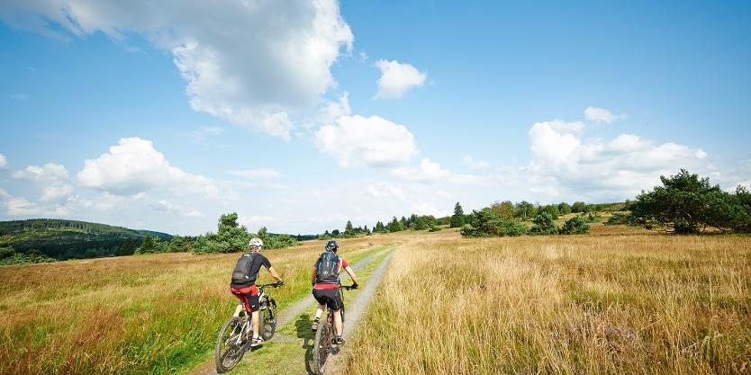 Landschaft genießen auf dem Mountainbike