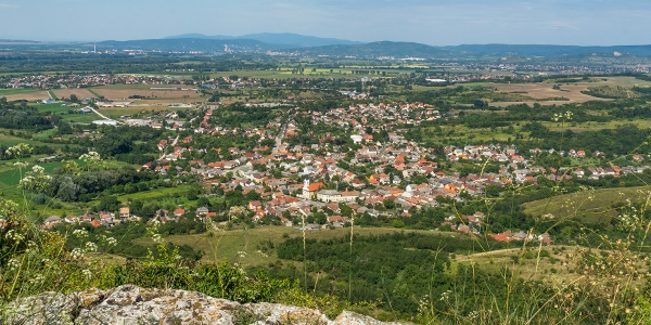 The view over Tokod from Hegyes-kő
