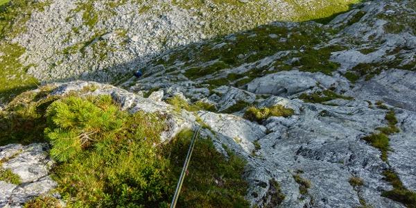 Blick von oben auf den Einstieg
