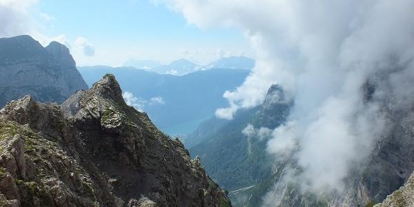 Panorama sul lago di Molveno