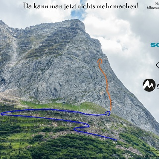Übersichtsbild der Klettertour