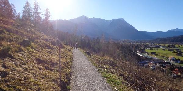 Teilstück oberhalb von Partenkirchen