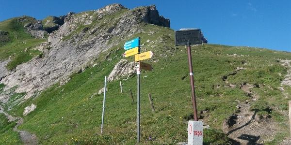 Abzweigung Schesaplana/Mannheimer Hütte zum Naafkopf