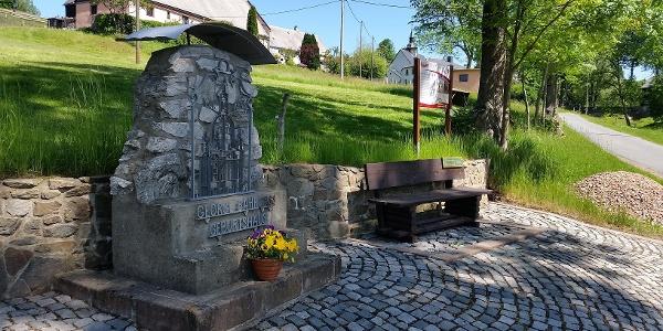 """Gedenkstein von  """"George Bähr"""" in Fürstenwalde"""