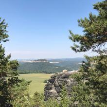 Ausblick auf die Festung Königstein
