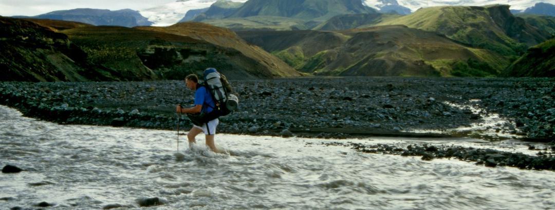Fording the river Þröngá