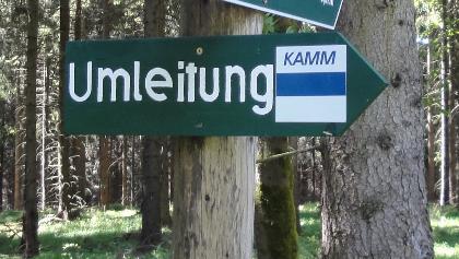 Umleitung Kammweg