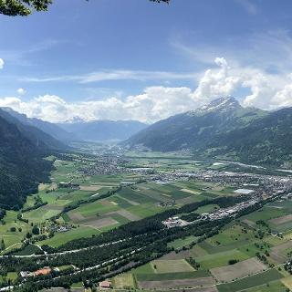 Blick vom Fadärastein Richtung Chur.