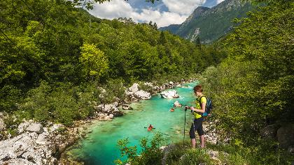 Kobarid historical trail - along Soča River, Soča valley