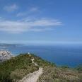 Abfahrt vom Monte Acuto nach Borghetto Santo Spirito