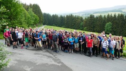 Wandertruppe des vorherigen Marathons