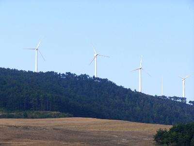 Windkraftwerk auf Alto del Perdón