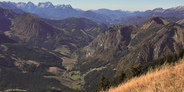 Maiereck Gipfelblick ins Laussatal mit Prielgruppe und Kampermauer