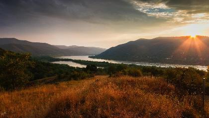 Panoráma a Dunakanyarra Visegrád fölött