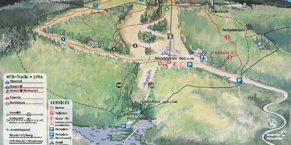 Trailplan | Rennsteig Bikearena Steinach
