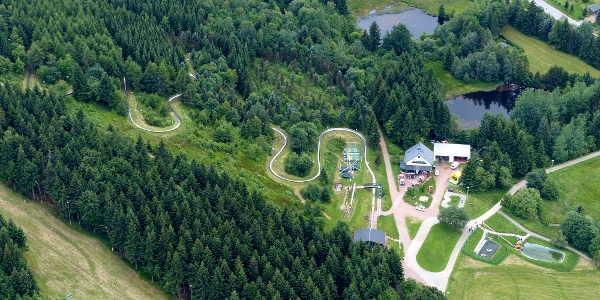 Sommerrodelbahn Luftaufnahme