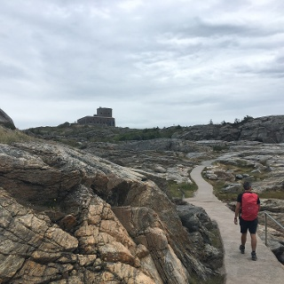 Approaching Carlsten Fortress.