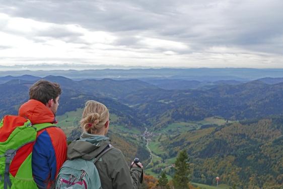 Das Schwarzwalddorf Wieden und der Belchen