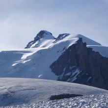 Blick vom Gletscherbeginn zum 1. und 2. Firnfeld