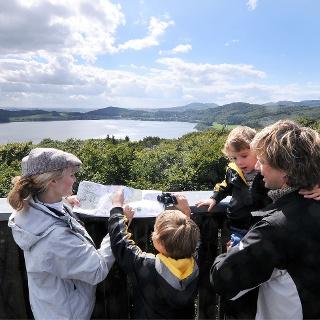 Blick vom Lydiaturm auf den Laacher See