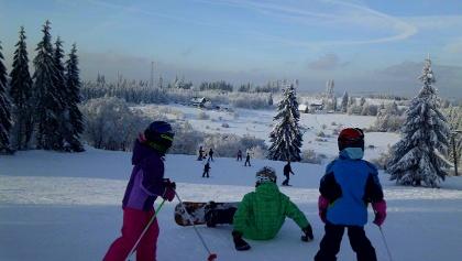 Wintersport in Skigebiet Lützel