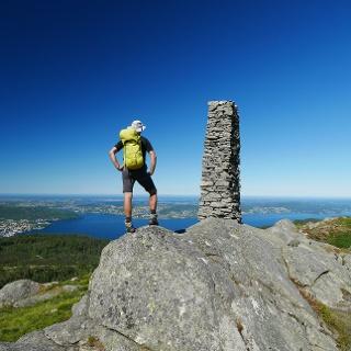 Am Gipfel des Blåmanen