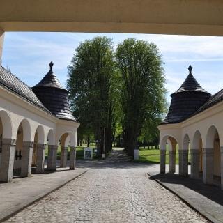 Torhaus am Eingang der Park Klinik Bad Hermannsborn