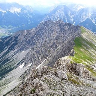 Abstiegsweg Gartnerwand - Grubigstein  - Bergstation