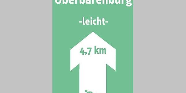 Schild Skiwanderweg Oberbärenburg