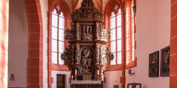 Bitter-Leidens-Altar der Wallfahrtskirche in Driesch_Vulkaneifel-Pfad: Maare-und-Thermen-Pfad