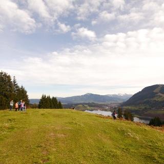 Kreuz kurz vor dem Aussichtspunkt Alpseeblick