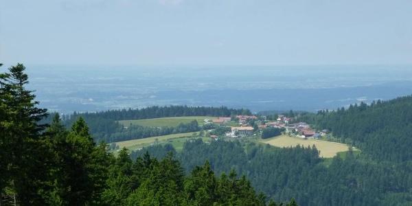 Pröllerabfahrt mit Blick nach Maibrunn und Donauebene