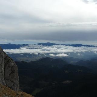 Leaota-hegység a Királykőről nézve