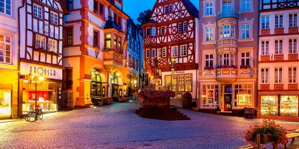 Mittelalterlicher Marktplatz in Bernkastel-Kues