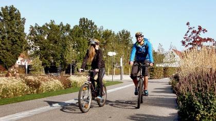 Radfahren im Westendpark