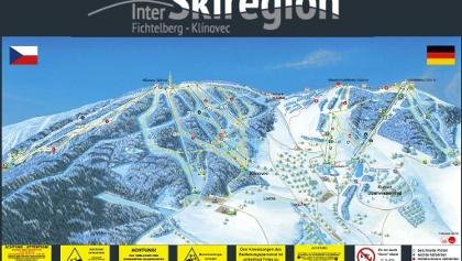 Pistenplan InterSkiregion Fichtelberg-Klinovec