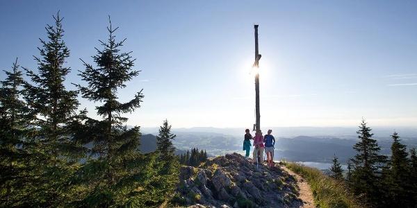 Am Gipfel der Alpspitze bei Nesselwang angekommen