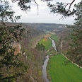 Blick vom Knopfmacherfelsen ins Donautal