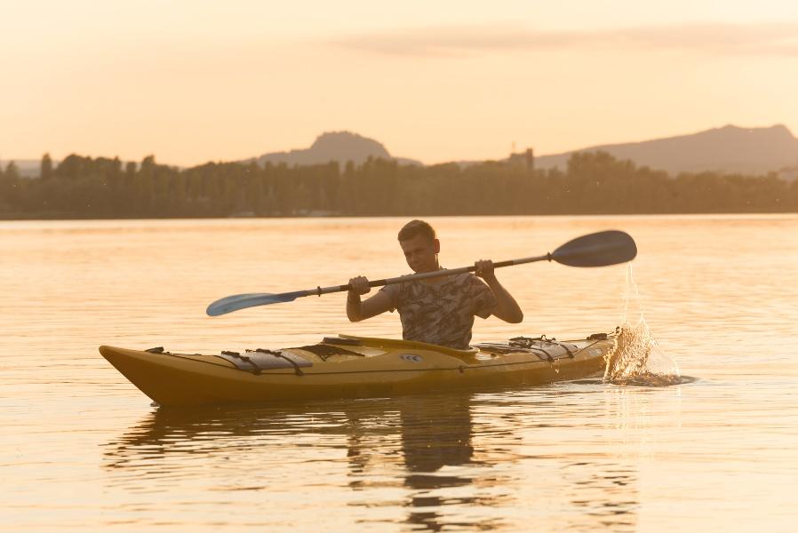 Mit dem Kanu um die Halbinsel Mettnau