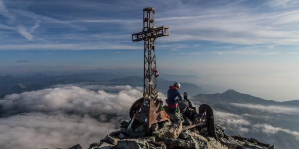 Am Gipfel des Monte Viso
