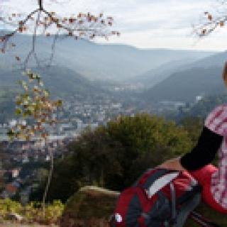 Blick vom Schloss Eberstein in´s Murgtal