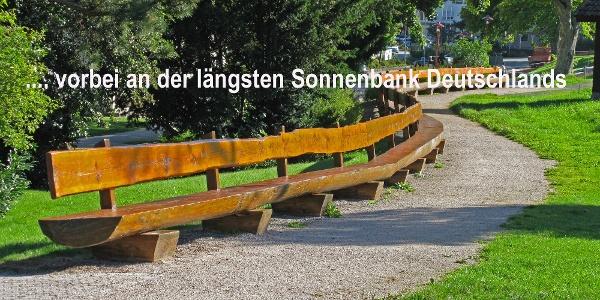 Längste Sonnenbank Deutschlands