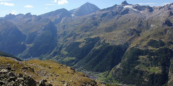 Auf dem Weg zur Bietschhornhütte