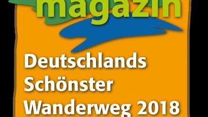 Logo Deutschlands schönster Wanderweg Platz 2