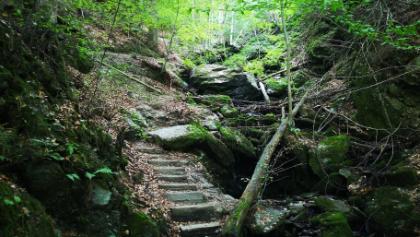 Aufstieg über den Schluchtweg