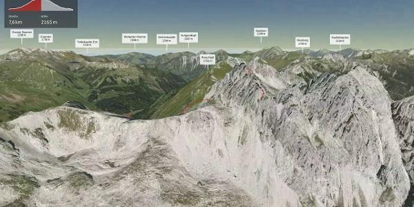 Bergtour im Allgäu: Fuchskarspitze Überschreitung