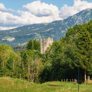 Blick zur Ruine Laubenbergerstein