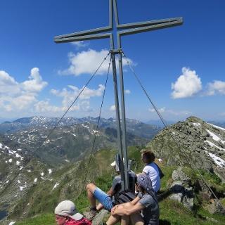 das Gipfelkreuz am Salzachgeier