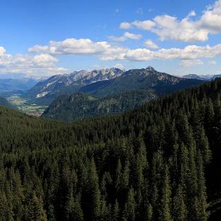 Panoramablick von der Alpspitze