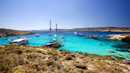 The famous Blue Lagoon, Comino